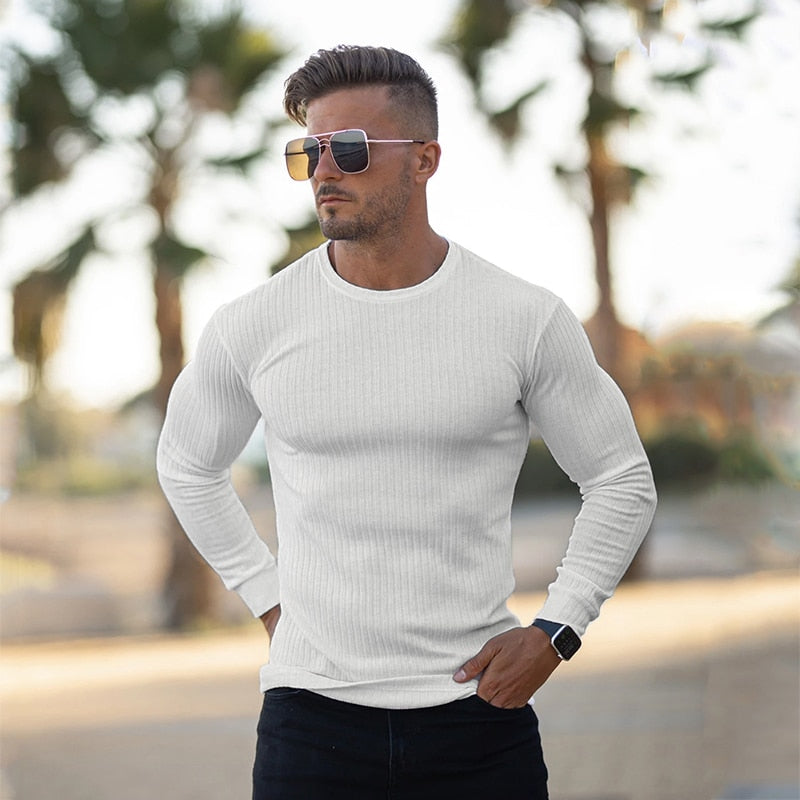 Casual Turtleneck Sweaters Men Pullovers Fashion Thin Sweater