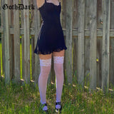 Mini Dresses Gothic Bandage Backless