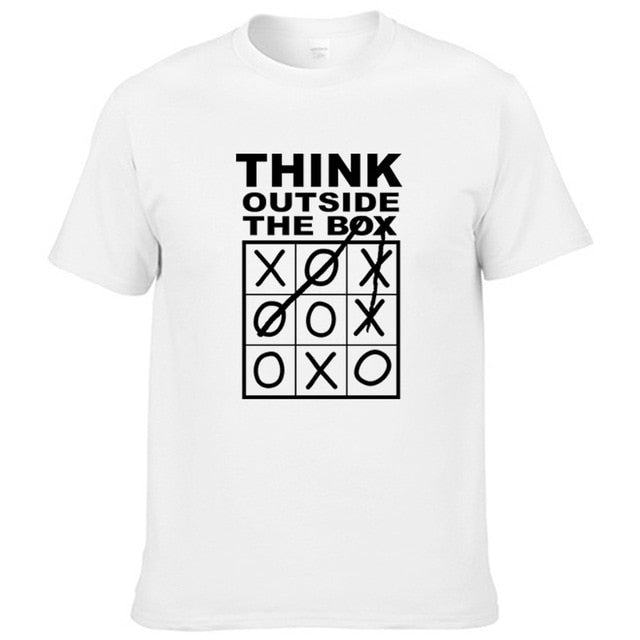 rTops Tee Think Outside The Box Funny Print T-Shirt