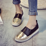 Espadrilles Flats Shoes Mix Color Creepers Slip On Women Loafers Ladies Shoes