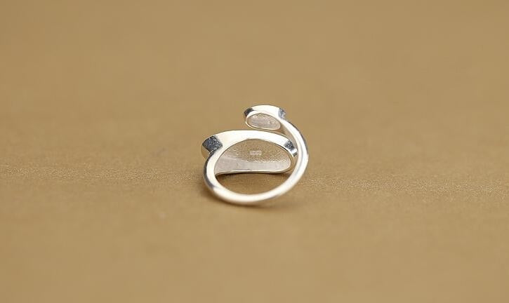 Silver Plated Simple Adjustable Geometric knuckle ring
