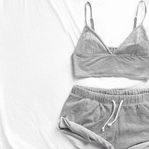 Set Vest + Short Pants Sleepwear