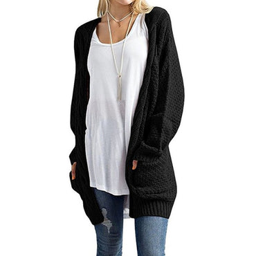 Autumn Long Sleeve Knitted Sweater Cardigan