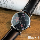 Back surface flower design Ladies Watch