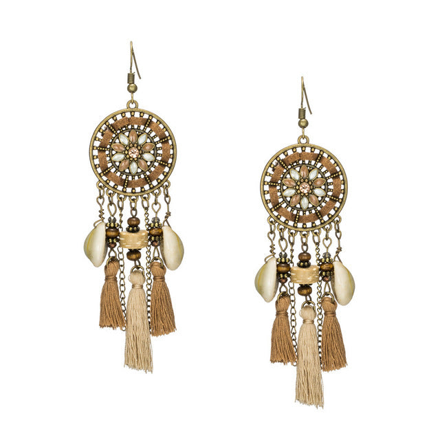 Long tassel Bohemian dangle drop Earings