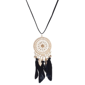 Feather Pendant Vintage Dream catcher Choker Necklaces