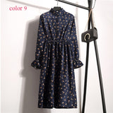 High Elastic Waist Vintage A-line Style Dress