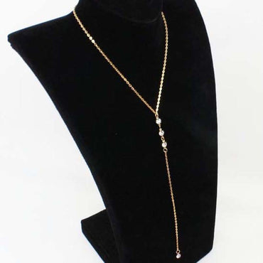 Simple back necklace jewelry