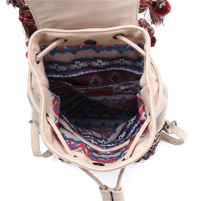 Bohemian hippie Fabric backpack