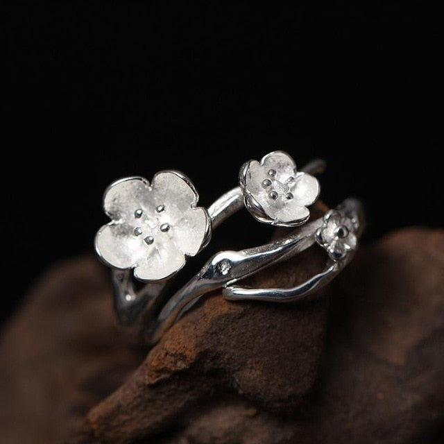 Plum Flower Open Ring
