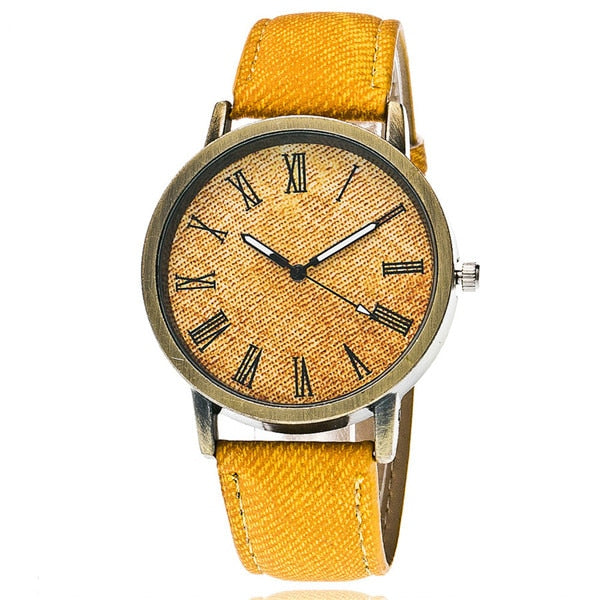 Fashion Casual Women Roma Dial Wristwatch