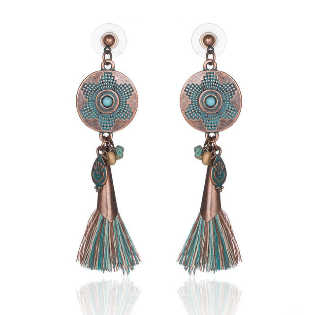 tassel long dangle drop earrings