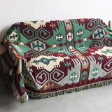 Vintage Geometry Plaid Sofa/Bed/Table Blanket