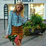 Gypsy Style Floral Print Blouse