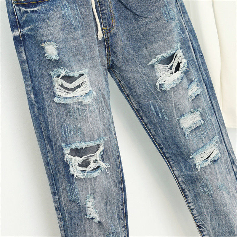 Summer Ripped Boyfriend Jeans