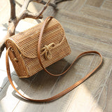 Boho Square single shoulder skew spanning hand-made bag