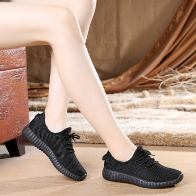 Casual Mesh Candy Colors Flats Fashion Breathable Soft Sneakers
