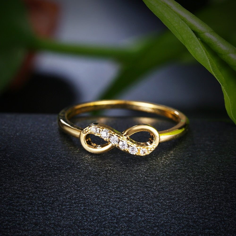 Infinity Crystal Rings