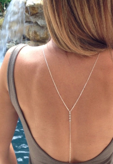 Simple imitation necklace back chain