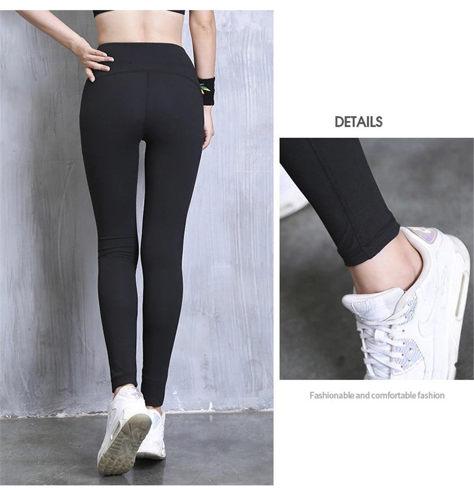High Waist Reflective Broadcloth Yoga Pant