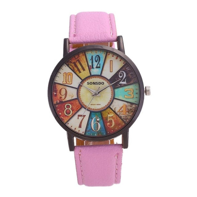 Retro Quartz Casual Leather Ladies Dress Watches
