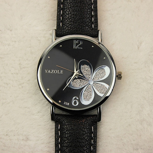 Flower shine Leather Watches