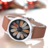 Casual Simple Quartz Clock Leather Strap Vogue Wrist Watches