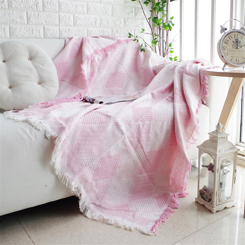 Colorful Romantic Geometry Throw Sofa Blanket Sofa