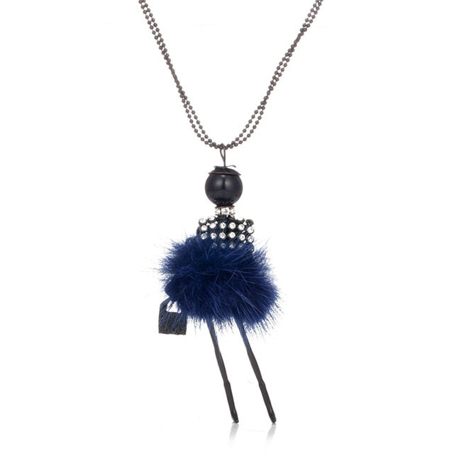 Tassel Peacock Feather Bohemian Long Necklace
