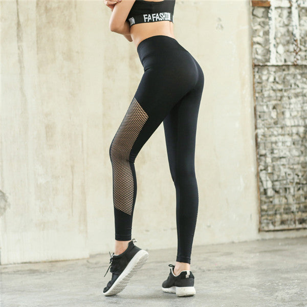 Slim Tights Mesh Sport High Waist Yoga Pant