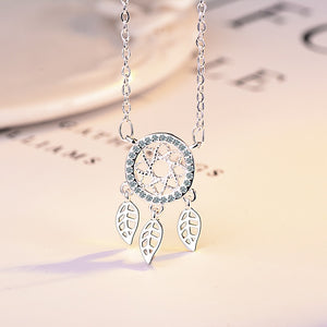 925 Silver Dream Catcher Feather Necklaces