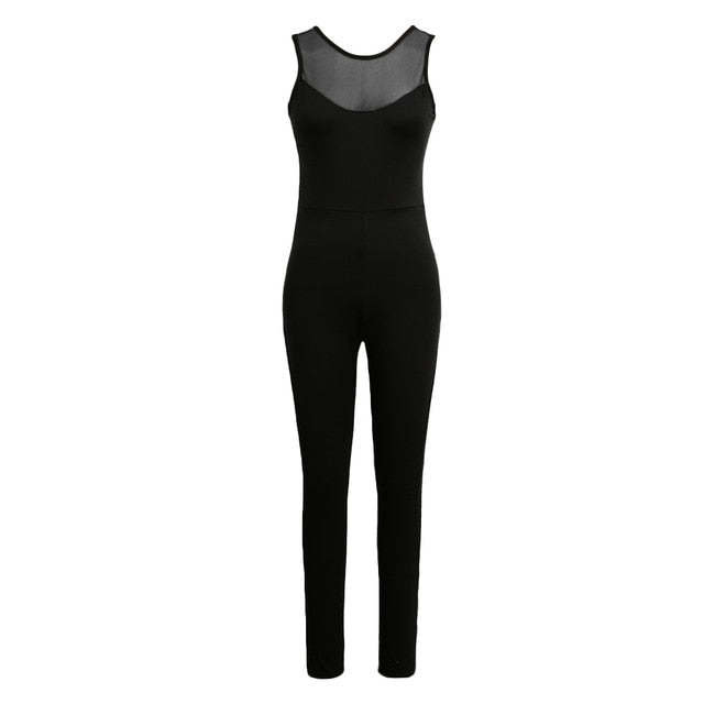 Fitness Tracksuit Backless Yoga Sportswear Tight Jumpsuits