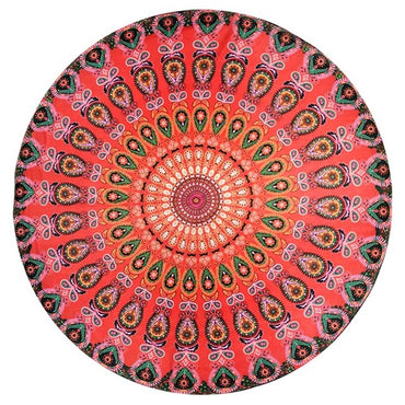 Round Mat Beach Picnic Throw Rug Bohemia Tapestry
