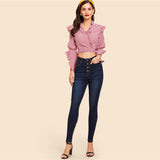 Navy Mid Waist Jeans Woman Dark Wash Button Up Skinny Pencil Pants