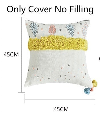 Nordic Simple Geometric Leaf Cushion Cover