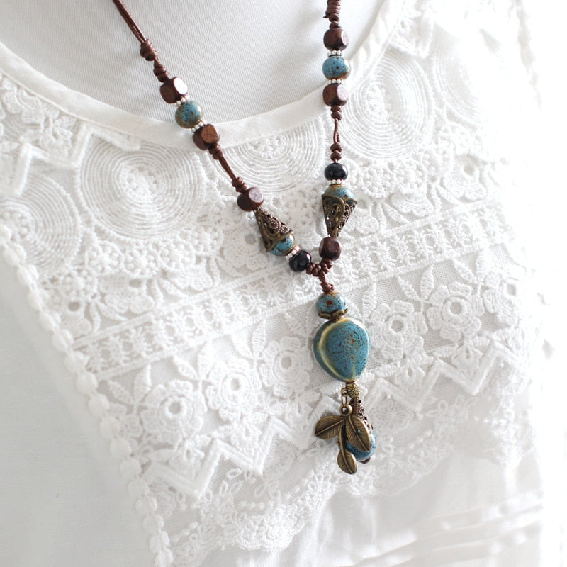 Bohemia Ceramic Statement Necklace