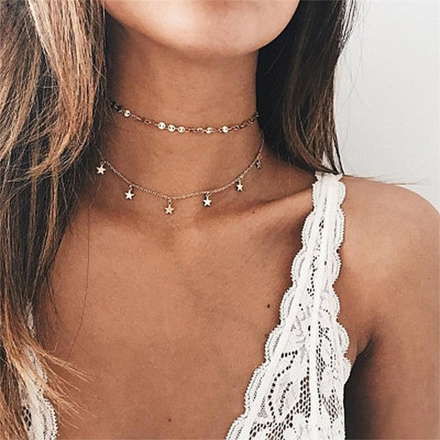 Bohemian 3 Multi Layer Necklaces & Pendants