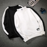 Patchwork Pullover Crewneck Comfortable Men's Sweatshirts