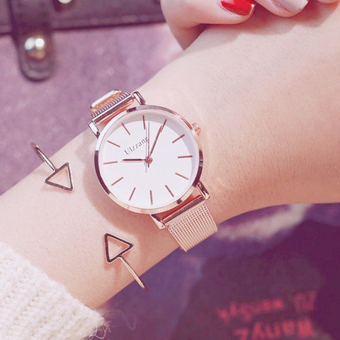 Stainless Steel Analog Quartz Wrist Watch