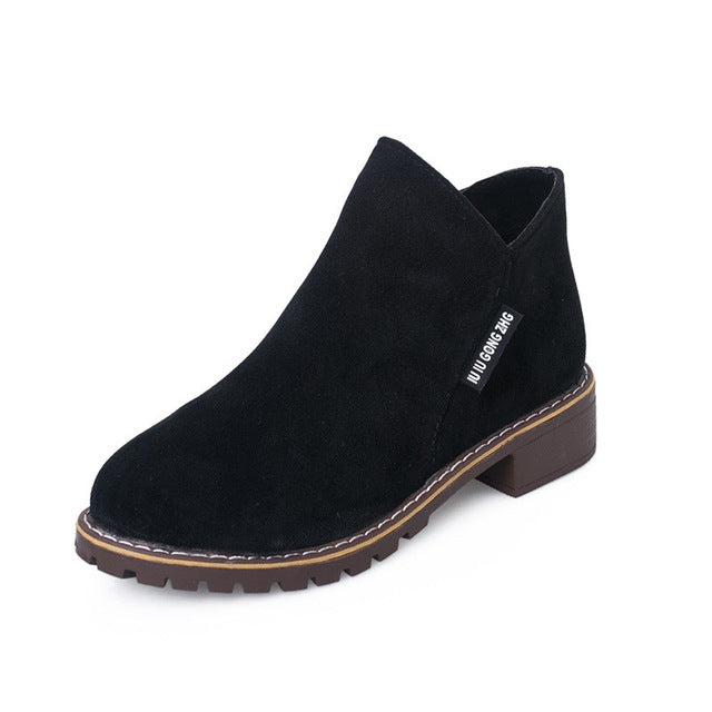 Martin Classic Zipper Snow Ankle Boots