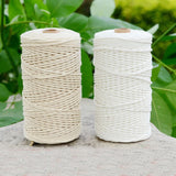 Durable 200m White Cotton Cord Twisted Cord Rope Craft Macrame String DIY Handmade