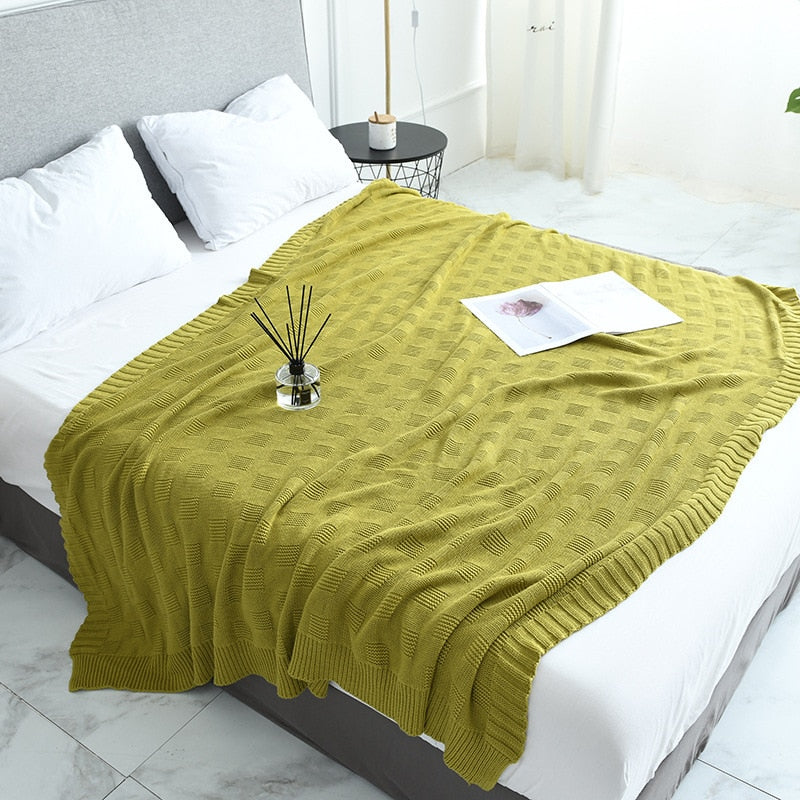 Multi-purpose Cotton Soft Big Knitting Blanket