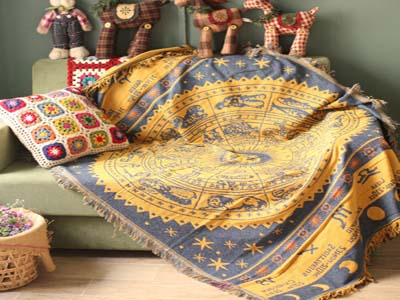 Bohemian Cotton Knitted Blanket