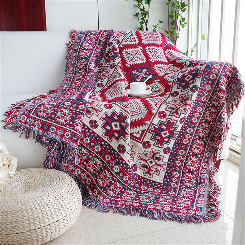 Throw Blanket Sofa/Beds Plaid Stitching Blankets