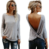 Backless Twisted Tops