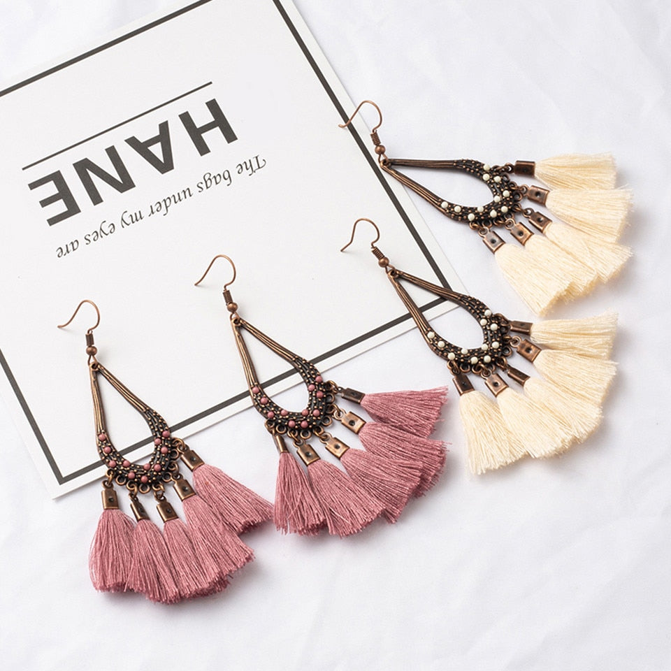 Tassel Bohemia Water Drop Earring