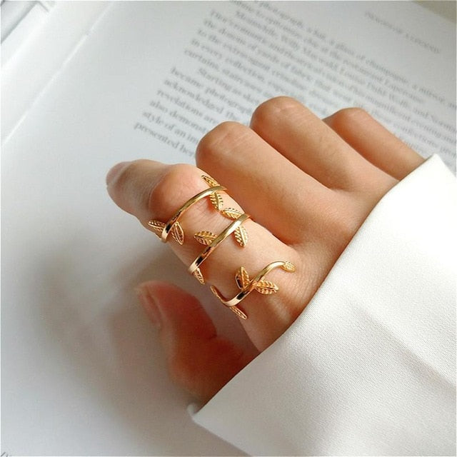 Multi-layer Winding Vine Open Ring