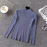 Long Sleeve Tops Turtleneck Knitted Sweater