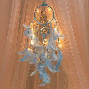 Lighting Crafts Wind Chimes Girl Hanging Dream catcher