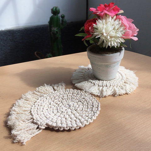 round table Macrame Handmade Handcrafted Tablecloth